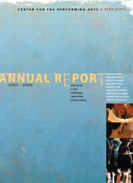 ANNUAL REPORT - Center for the Performing Arts