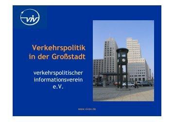 "Vortrag-PDF ""Präsentation Großstadtverkehr"" - viv ..."