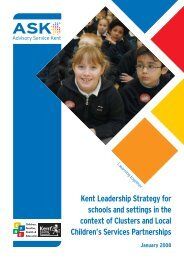 Kent Leadership Strategy for schools and settings ... - Kent Trust Web