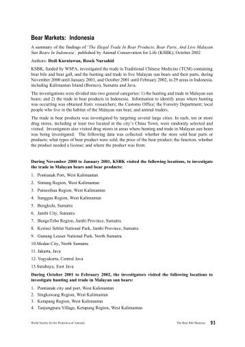 Bear Markets: Indonesia - WSPA