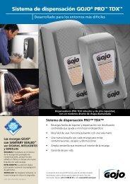 Sistema de dispensación GOJO® PRO™ TDX - GOJO Industries, Inc.