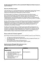 Sternjakob im UN Global Compact - Alfred Sternjakob GmbH