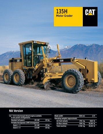 135H NA Motor Grader : AEHQ5265 - Kelly Tractor