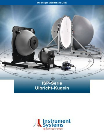 ISP Serie Sammelbroschüre - Instrument Systems