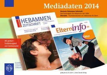 Mediadaten 2014 - Verlagsbüro ID GmbH & Co. KG