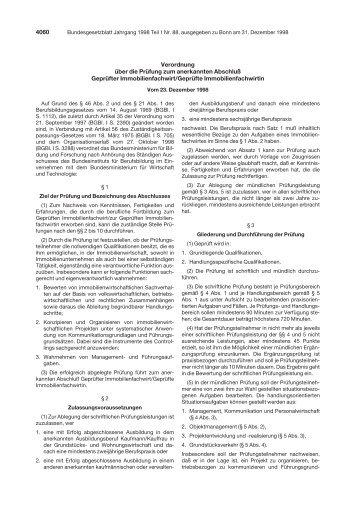 4060 Verordnung über die Prüfung zum anerkannten ... - BiBB