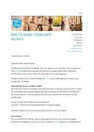 BIKE TO WORK: TEAM-INFO 06/2013