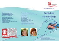 Sozialberatung für Gehörlose und Schwerhörige ... - Taubenschlag