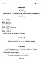 Zákon č. 121/2000 Sb., o právu autorském a právech souvisejících s ...