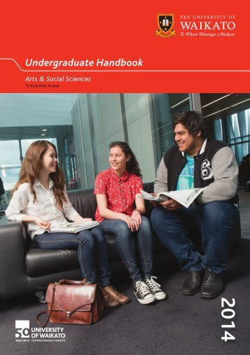 Undergraduate Handbook - The University of Waikato