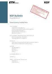 KOF Bulletin No. 44, September 2011 - KOF - ETH Zürich