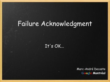 Failure Acknowledgment