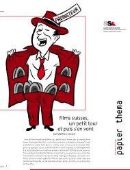 Films suisses, un petit tour et puis s'en vont / Papier thema No ... - SSA