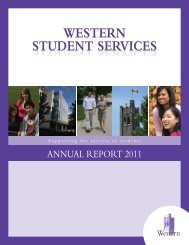 western student services - Academic Calendar - University of ...