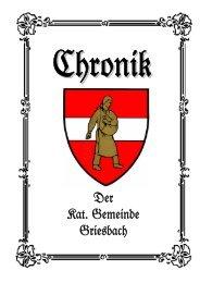 Der Kat. Gemeinde Griesbach - Waidhofen an der Thaya-Land