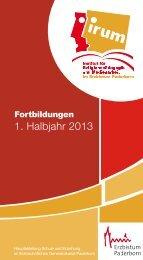 PDF-Datei des Fortbildungskalenders 1/2013 zum Download