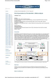 HLA Associations to Periodontitis: a Meta-analysis - Zahnärztliches ...