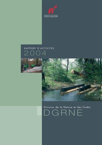 Division Nature et Forêts (DNF) - rapport d'activité 2004 - Portail ...