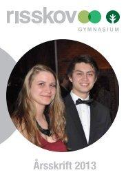 kan du læse skolens årsskrift for skoleåret 2012 - Risskov Gymnasium