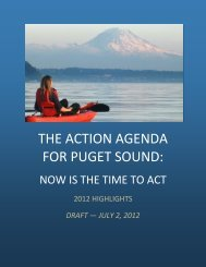2012 Draft Action Agenda - Book 1 - Puget Sound Partnership