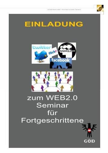 WEB2.0 Fortgeschrittene Einladung - oeaab.fcg.goed-Blog