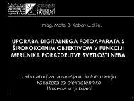 uporaba digitalnega fotoaparata s Å¡irokokotnim objektivom v ... - SDR