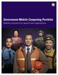 Government And Mobile Computing at a Glance - Motorola Solutions