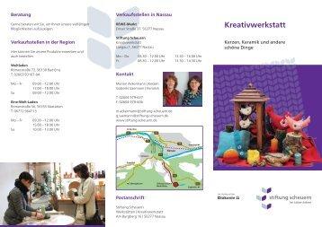 Kreativwerkstatt - Stiftung Scheuern