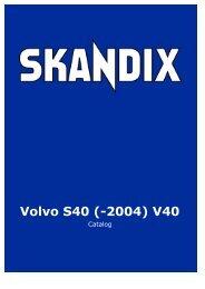 SKANDIX Catalog: Volvo S40 (-2004) V40