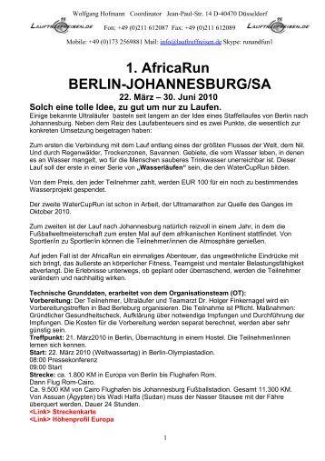 Touristisches Programm 11 - Lauftreffreisen.de