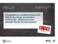 Erfolgsfaktoren von B2B-Online-Shops - ECC Köln