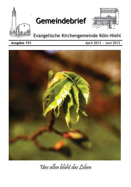 Gemeindebrief - Evangelische Kirche Niehl