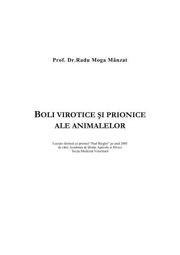 Boli virotice si prionice ale animalelor - CYF MEDICAL DISTRIBUTION