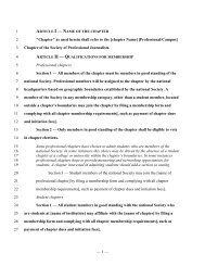 You can reference these model bylaws [PDF, 38 KB] - Society of ...