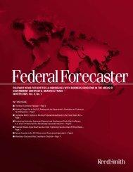 Federal Forecaster - Vol. V, No. 1 - Reed Smith