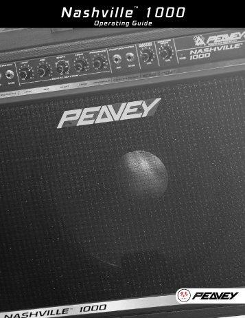Nashville 1000 om-1 - Peavey.com