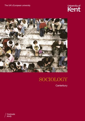 Subject leaflet (pdf) - University of Kent