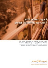 what makes a good global citizenship resource? - RISC