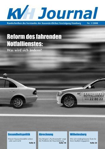 Reform des fahrenden Notfallienstes: - KVHH