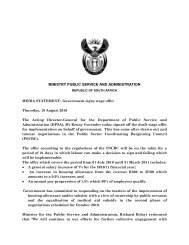 ministry public service and administration - KZN Education