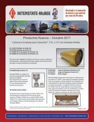 Productos Nuevos – Octubre 2011 - Interstate McBee