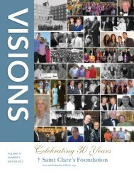 Visions - Winter 2012 - Saint Clare's Foundation