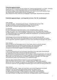 Interview mit Univ. Prof. Dr. Leo Montada - Lernwelt