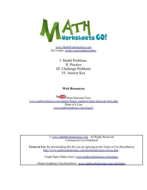 intercept form equation calculator  slope-intercept-form-worksheet - SD11