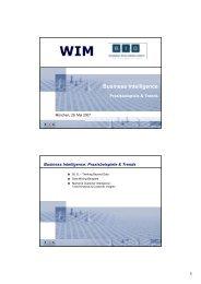 Business Intelligence - Institut für Wirtschaftsinformatik und neue ...