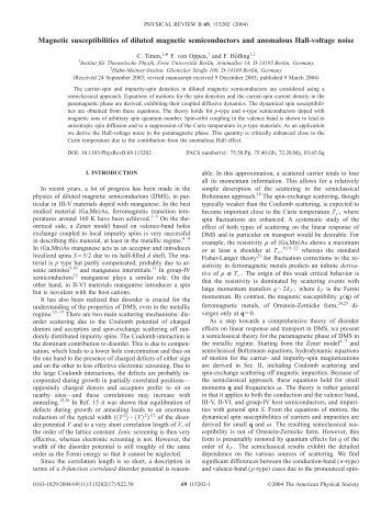 Thesis on diluted magnetic semiconductors