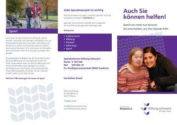 Spenden - Stiftung Scheuern