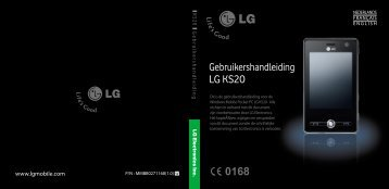 Gebruikershandleiding LG KS20 - Gsmweb.nl