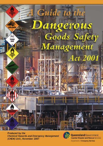 A guide to the Dangerous Goods Safety Management Act 2001