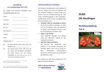SAN A 2012 - Pfullingen - DLRG